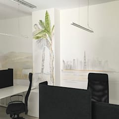 Biuro Podróży: styl , w kategorii Domowe biuro i gabinet zaprojektowany przez Pracownia Projektowa Hanna Kłyk