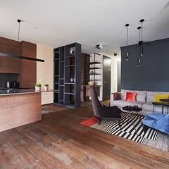 Hoża 2: styl , w kategorii Salon zaprojektowany przez Pracownia Projektowa Hanna Kłyk