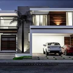 CASA FC: Casas de estilo  por dlp Arquitectos