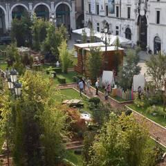 Centros de exposiciones de estilo  por RIZZINELLI & VEZZOLI ARCHITETTI ASSOCIATI , Rural