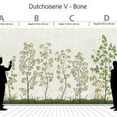 Hand-painted wallpaper - Dutchoiserie V:  Eetkamer door Snijder&CO