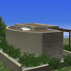gülercan mimarlık müh inş turz ith ihr san ve tic. ltd şti – idea bodrum mimarlık hizmetleri(gülercan mimarlık ltd):  tarz Bahçe, Akdeniz