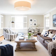 Devon Family Room : eclectic Living room by Larina Kase Interior Design