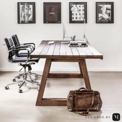 Eigen kantoor te Voorschoten:  Studeerkamer/kantoor door Mariska Jagt Interior Design