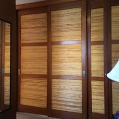 Cloet de madera y bambu: Walk in closet de estilo  por Arquiespacios