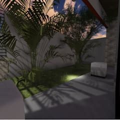 León House: Jardines de estilo  por Cup Studio