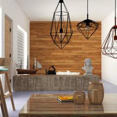 TR estudio: Paredes de estilo  por Hipercubo Arquitectura
