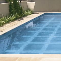 Glass covered Movable Floor:  Pool by AGOR Engineering