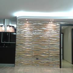 APARTAMENTO EN RESIDENCIAS SANTA LUCIA.: Salas / recibidores de estilo  por CelyGarciArquitectos c.a.