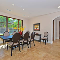 Santaluz Vacant Staged to Sell:  Dining room by Metamorphysis Home Staging Services