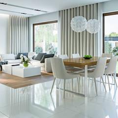 Projekt domu HoemKONCEPT-03: styl , w kategorii Salon zaprojektowany przez HomeKONCEPT | Projekty Domów Nowoczesnych