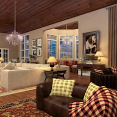 Haras: Salas de estar  por Éfeso Arquitetura & Construção