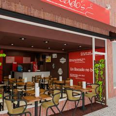 Diseño Restaurant Bocados Burger & Grill: Restaurantes de estilo  por Simon Lopez Diseños 3D