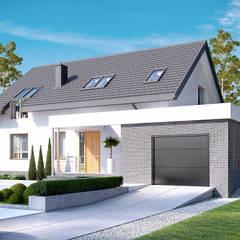 Projekt domu HomeKONCEPT-05: styl , w kategorii Domy zaprojektowany przez HomeKONCEPT | Projekty Domów Nowoczesnych