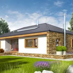 PROJEKT DOMU EX 8 G2 (wersja B) - design z najwyższej półki : styl , w kategorii Domy zaprojektowany przez Pracownia Projektowa ARCHIPELAG