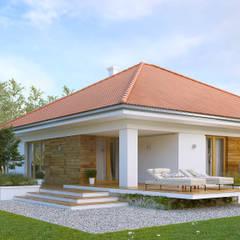 ARIEL 5: styl , w kategorii Domy zaprojektowany przez Biuro Projektów MTM Styl - domywstylu.pl,