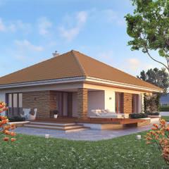 Wizualizacja projektu domu Ariel 6: styl , w kategorii Domy zaprojektowany przez Biuro Projektów MTM Styl - domywstylu.pl