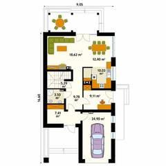 AMARYLIS 4: styl , w kategorii Ściany zaprojektowany przez Biuro Projektów MTM Styl - domywstylu.pl