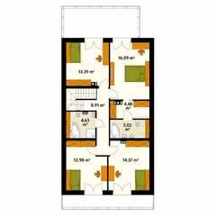 AMARYLIS 4: styl , w kategorii Ściany zaprojektowany przez Biuro Projektów MTM Styl - domywstylu.pl,