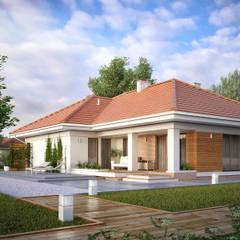 AMBROZJA 7: styl , w kategorii Domy zaprojektowany przez Biuro Projektów MTM Styl - domywstylu.pl,