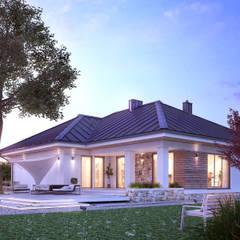 AMBROZJA 8: styl , w kategorii Domy zaprojektowany przez Biuro Projektów MTM Styl - domywstylu.pl,