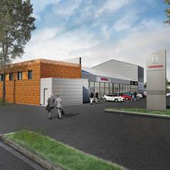Concession Honda / Lotus: Bureau de style de style eclectique par atelier AMEG