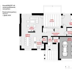 Projekt domu HomeKONCEPT-40: styl , w kategorii Domy zaprojektowany przez HomeKONCEPT | Projekty Domów Nowoczesnych