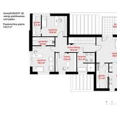 منازل تنفيذ HomeKONCEPT | Projekty Domów Nowoczesnych,