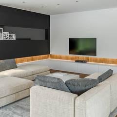 Projekt domu HomeKONCEPT-33: styl , w kategorii Salon zaprojektowany przez HomeKONCEPT | Projekty Domów Nowoczesnych