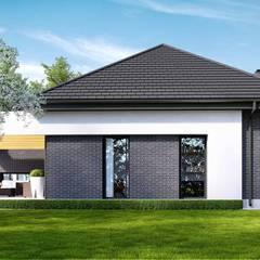 Projekt domu HomeKONCEPT-27- wizualizacje: styl nowoczesne, w kategorii Domy zaprojektowany przez HomeKONCEPT   Projekty Domów Nowoczesnych
