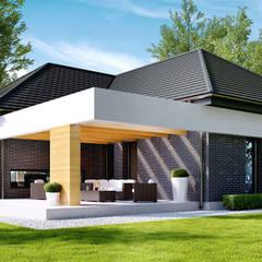 Projekt domu HomeKONCEPT-27- wizualizacje: styl , w kategorii Domy zaprojektowany przez HomeKONCEPT | Projekty Domów Nowoczesnych