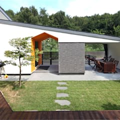 대전하기동 - 프라이버시 최우선의 'ㄷ'자 중정형주택: 주택설계전문 디자인그룹 홈스타일토토의  정원