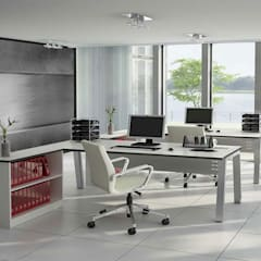 Commercial:  Study/office by Pixers, Industrial