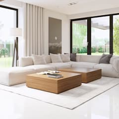 Projekt domu HomeKONCEPT-15: styl , w kategorii Salon zaprojektowany przez HomeKONCEPT | Projekty Domów Nowoczesnych