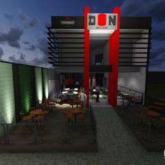 Proposta da fachada.: Bares e clubes  por Estúdio 12b