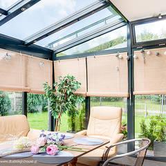 METEOR 2 – KLASYKA W NOWOCZESNEJ ODSŁONIE (realizacja letnia): styl , w kategorii Ogród zimowy zaprojektowany przez Biuro Projektów MTM Styl - domywstylu.pl