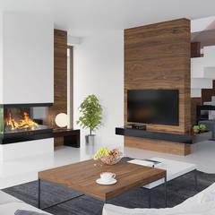 Projekt domu HomeKONCEPT-07: styl , w kategorii Salon zaprojektowany przez HomeKONCEPT | Projekty Domów Nowoczesnych