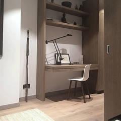Modern corridor, hallway & stairs by homify Modern Wood Wood effect