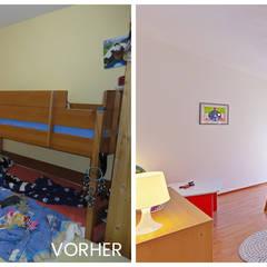 Vorher-Nachher Kinderzimmer: landhausstil Kinderzimmer von VISUAL BUHO Homestaging & Redesign