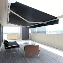 T邸ーFlat design 1: C-design吉内建築アトリエが手掛けたテラス・ベランダです。