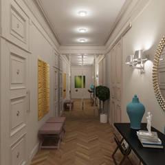 Квартира для молодой девушки, ведущей жизнь джетсеттера: Коридор и прихожая в . Автор – Архитектура Интерьера