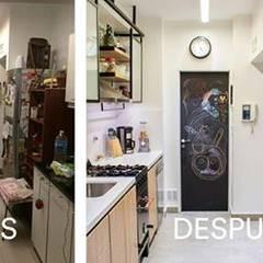 Antes y después.: Cocinas de estilo  por Estudio Urbain