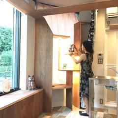 CAT INN TOKYO 板橋本町ic-AB: &lodge inc. / 株式会社アンドロッジが手掛けた壁です。,ラスティック