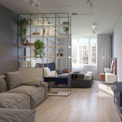 غرفة المعيشة تنفيذ Bovkun design