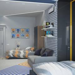 Квартира в Краснодаре - Изысканность стиля Детская сыновей:  Corridor & hallway by СТУДИЯ   'ДА' ДАРЬИ АРХИПОВОЙ