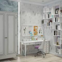 Квартира в Краснодаре - Изысканность стиля Детская дочки:  Bedroom by СТУДИЯ   'ДА' ДАРЬИ АРХИПОВОЙ,