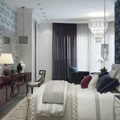 Квартира в Краснодаре - Изысканность стиля Спальня:  Conservatory by СТУДИЯ   'ДА' ДАРЬИ АРХИПОВОЙ