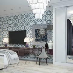 Квартира в Краснодаре - Изысканность стиля Спальня:  Bedroom by СТУДИЯ   'ДА' ДАРЬИ АРХИПОВОЙ,