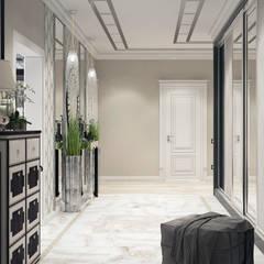Квартира в Краснодаре - Изысканность стиля Холл:  Bedroom by СТУДИЯ   'ДА' ДАРЬИ АРХИПОВОЙ,