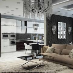Квартира в Краснодаре - Изысканность стиля Гостиная-вариант 2:  Bedroom by СТУДИЯ   'ДА' ДАРЬИ АРХИПОВОЙ,